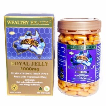 Harga Wealthy Health Royal Jelly 1000mg 6% นมผึ้ง6% (365 capsules)