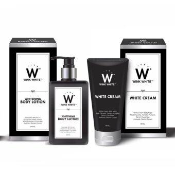 Harga Wink White Whitening Body Lotion SPF PA+++ 200ml & White Cream80ml
