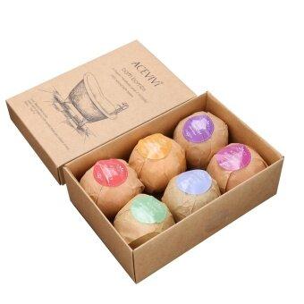 WONDERSHOP Organic Bath Bombs Rose Red Smell Pack of 6 Oil Sea Salt Handmade Bath Bombs ( Red #6 ) - intl