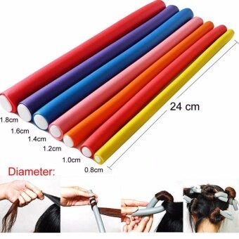 Harga Yika 10Pcs Fantastic DIY Curler Makers Soft Foam Bendy Twist CurlsTool Hair Rollers Size 1.8CM - intl