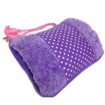 ประกาศขาย Yuriko กระเป๋าน้ำร้อนไฟฟ้า นุ่มนิ่ม สอดมือได้ ร้อนเร็ว Heating Bag (สีม่วง/ลายจุด)