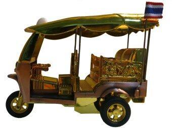 JANEJI Wind Up Took Took Toy รถตุ๊กตุ๊กไขลาน ของเล่น ขนาด Size XL - Gold