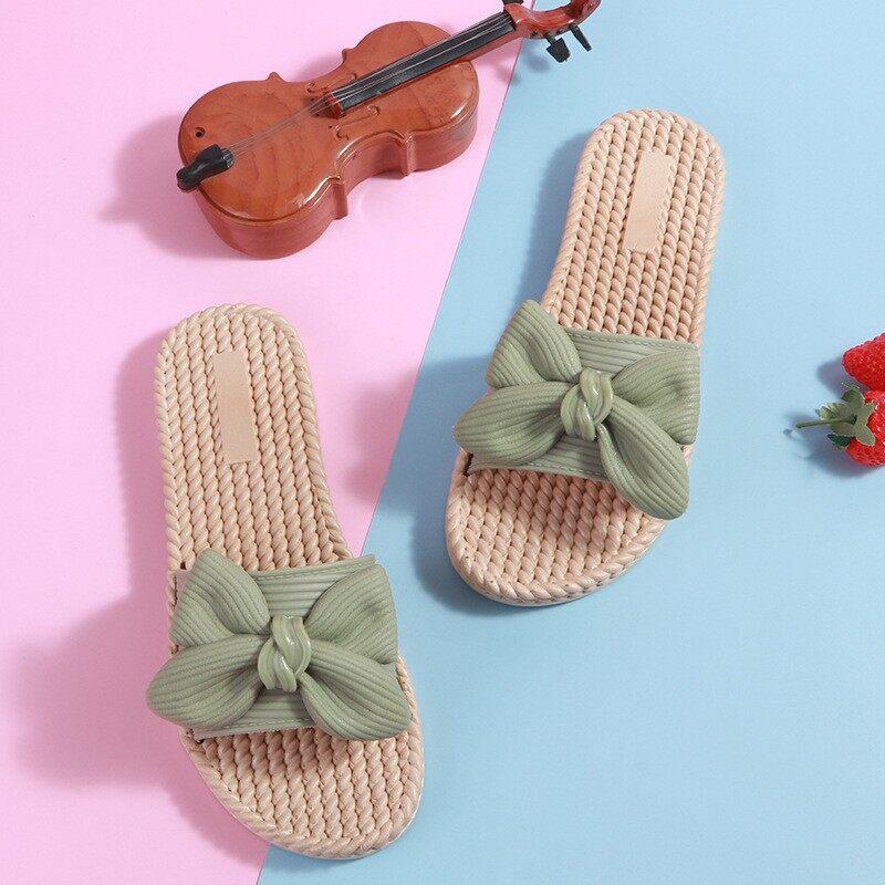 รองเท้าเเตะยาง กลีบโบว์ สวยใส น่ารักมาก เบา นิ่ม