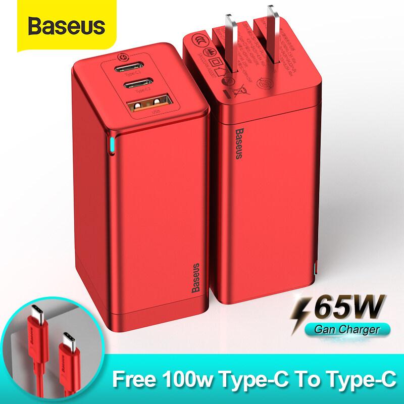 Baseus หัวชาร์จเร็ว 65W Gan 2Pro USB Type C Fast Quick Charge Adapter หัวชาร์จไอโฟน อุปกรณ์ชาร์จมือถือ Samsung iPhone