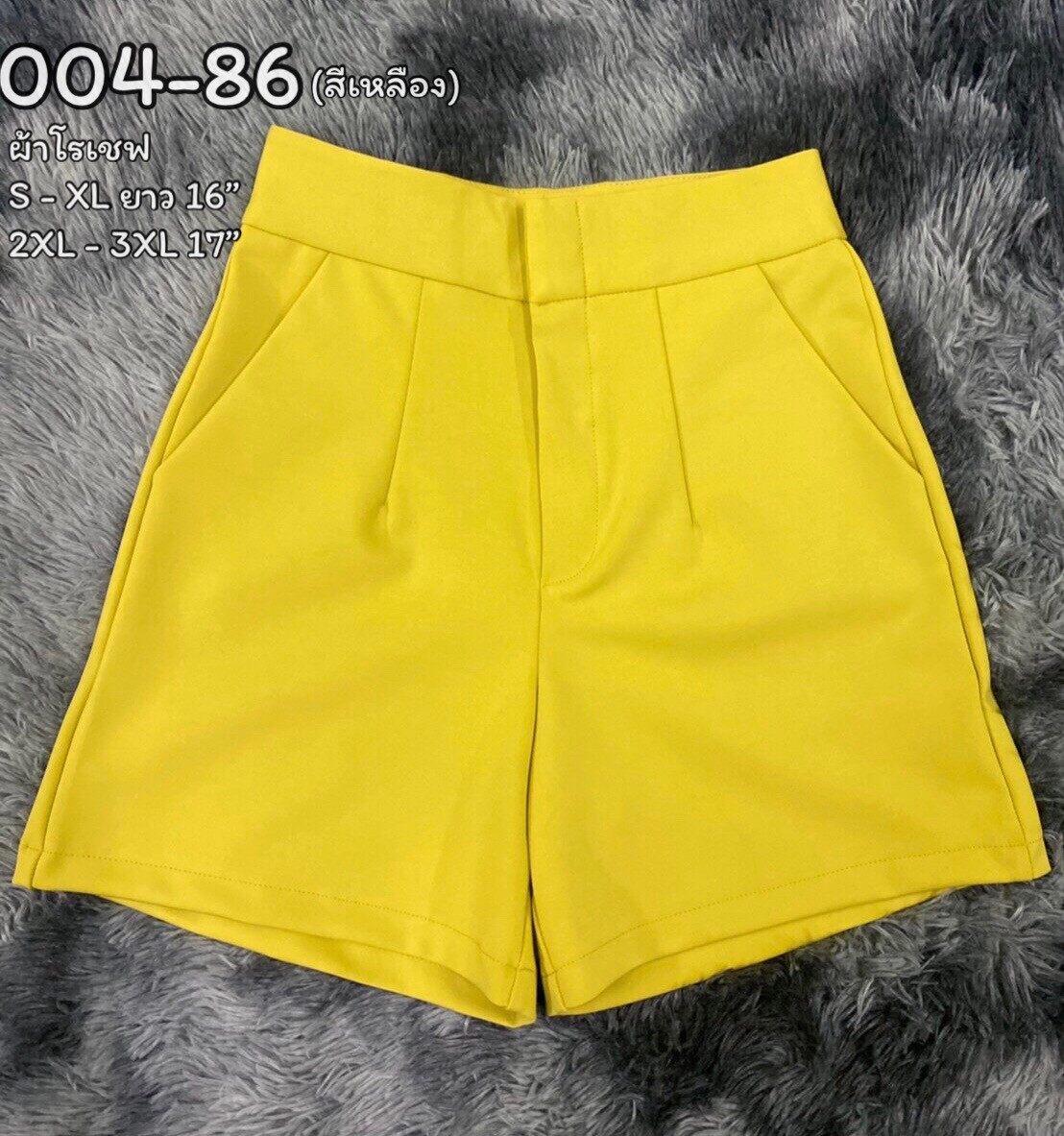 OHOskirt กางเกงขาสั้น กางเกงซิปหน้า กางเกงผ้าโรเชฟ 004-82/004-83 / 004-84 /004-80 /004-87/004-88/004-85/004-81/004-86