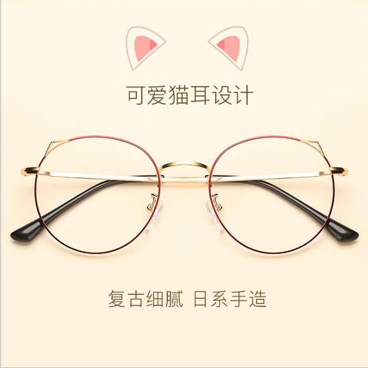 ... Telinga Kucing bingkai kacamata telinga kucing wanita rabun dekat mata  Kerangka Retro Gaya Korea bingkai besar 4c1e3f18c2