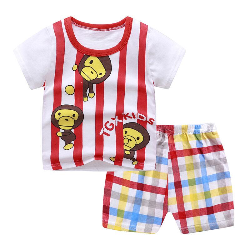 เสื้อผ้าเด็ก ชุดแขนสั้น เสื้อกล้ามเด็ก ชุดเด็ก2ชิ้น เสื้อกล้าม+กางเกง ใส่สบาย ชุดเด็กชาย เสื้อยืดเด็ก ชุดลำลองเด็ก อายุ6เดือน-6ปี