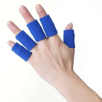 10 PCs Sports Finger Guard Bandage Support Wrap BasketballFingerstall Protector - intl