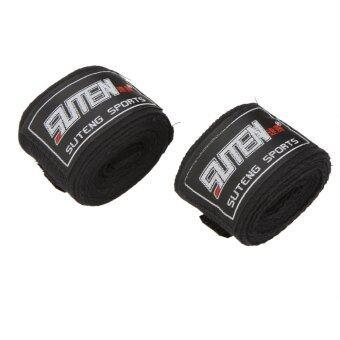 100% ผ้ารัดมวยไทยกีฬามวยซานดา MMA มือพันผ้าพันแผลเทควันโด2ชิ้น/ม้วน