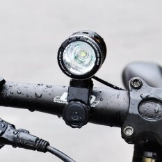 1000LM T6 Bicycle Front Light IP65 DC USB Charge HeadLamp 120 Degree Wide Angle with Lampshade Night Riding Handlebar Floodlight - intl