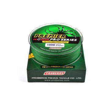 100M 1.5# 0.2mm Super Strong PE Braided Fishing Line 20LBGreen -intl