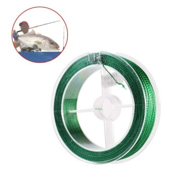 100m PE Braided Super Strong Fishing Lines Multi-filament Fish RopeCord- 4 Strands Green (1.5) - intl