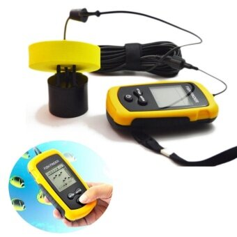 100M Portable Sonar Sensor Fish Finder Fishfinder CapturingTransducer Alarm+LCD - intl