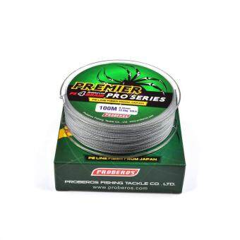 100M Super Strong PE Braided Fishing Line 8LB Gray - intl