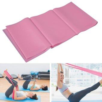 1.2m Elastic Thick Yoga Stretch Band Exercise Fitness Band Pink