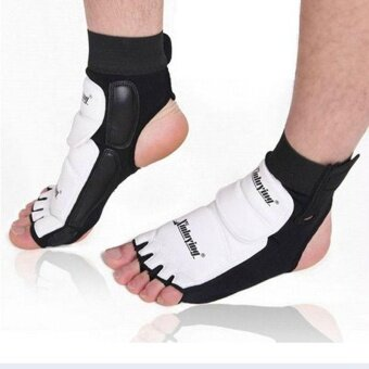 1pair Ankle Brace Support Pad Guard Foot Gloves Protection MMA/MuayThai/Boxing - intl