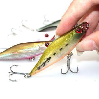1pc 7.2g 7cm Fishing Lure Popper Bait Artificial Plastic Hard Baits with Treble Hook - intl