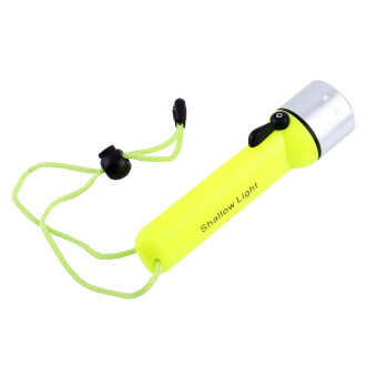 2000LM LED Waterproof Diving Flashlight With Hand Strap Fluorescent Green - intl