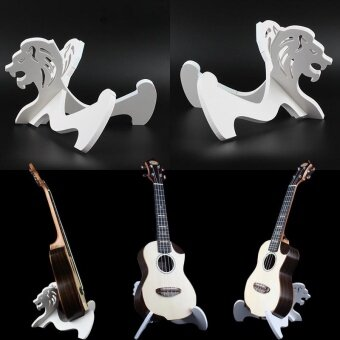 ประเทศไทย 2017 Wooden Foldable Guitar Holder Stand Rack Guitar Hanger Stand Holder Hook - intl