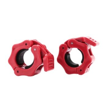 2pcs 50mm Weight Lifting Locking Spring Collars Dumbbell Buckle Sports - intl