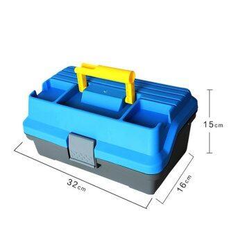 32ซม x 16ซม x 15ซม 3ชั้นติดกล่องเหยื่อตกปลาใหญ่จัดการเครื่องมือประมงเคสพลาสติก