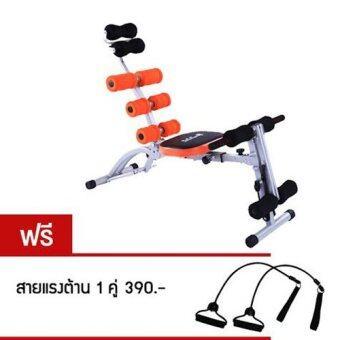 360 Ongsa Fitness เครื่องบริหารร่างกาย SIX PACK CARE S รุ่น SPC-Special สปริง 4 เส้น (Black/Orange)