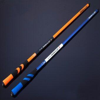 3.6M Carbon Fiber Telescopic Fishing Hand Rod Fishing Rod forSaltwater Freshwater,Orange +Blue - intl