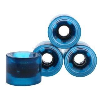 4 pcs /set 60*45mm LED PU Flash Skateboard Wheels for Banana/ SmallFish Skate Board(Blue) - intl - 3