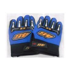 ถุงมือเต็มนิ้ว รุ่น 46 แบบฟรีไซด์ สำหรับใส่ขับขี่จักรยานหรือมอเตอร์ไซด์ หรืออื่นๆ