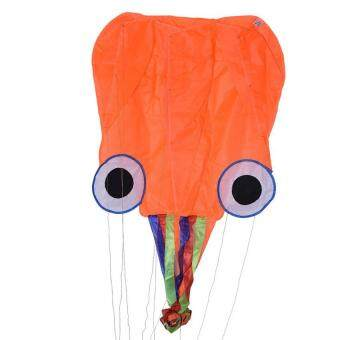 4M Single Line Stunt Red Octopus Power Sport Flying Kite OutdoorToy Funn - Intl