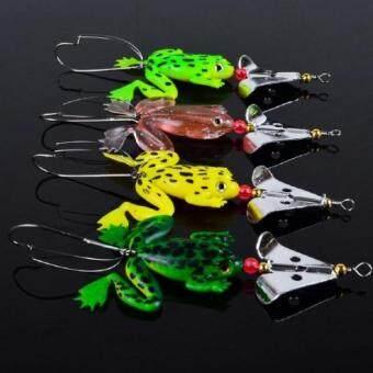 4pcs Rubber Frog Soft Fishing Lures Crank Bait 9cm/3.54