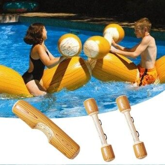 4Pcs/set Water Inflatable Bumper Game Swimming Pool Float Ride-On Row Kids Toy - intl