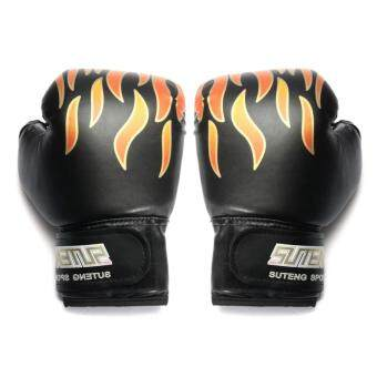 5 OZ Children Kids FIRE Boxing Gloves Sparring Punching FightTraining Age 3-12 - intl