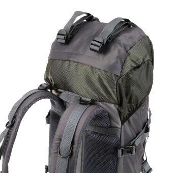 55ลิตรกีฬากลางแจ้งเดินป่าแคมปิ้งท่องเที่ยวเดินสะพายกระเป๋าทนน้ำแพ็คเป้ปีนเขาไต่
