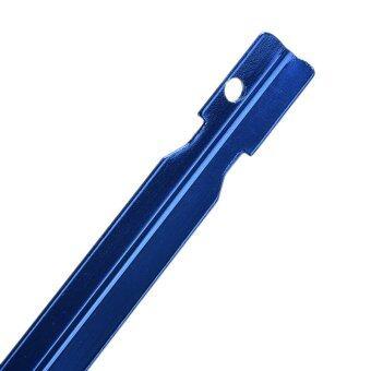 6ชิ้นมีดตอกอะลูมิเนียมอัลลอยพื้นเต็นท์เสาที่มีเชือกเครื่องมืออุปกรณ์ตั้งแคมป์กลางแจ้งสีน้ำเงิน