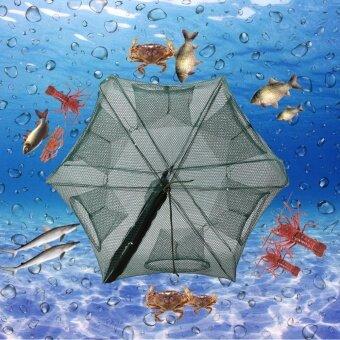 6 Holes Automatic Fishing Net Shrimp Cage Nylon Foldable Crab FishTrap Cast - intl