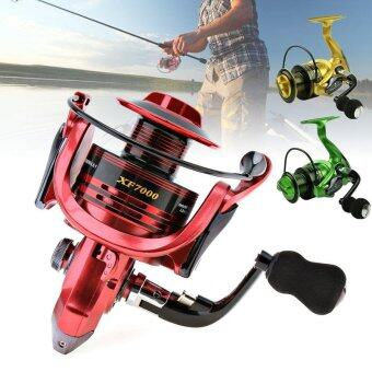 7000 Series 13+1 Ball Bearings 4.7:1 All-Metal Foldable Arm Spinning Fishing Reel with EVA Handle (3 Colors Optional) - intl