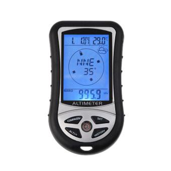 8ใน1 จอดิจิตอลวัดความสูงบารอมิเตอร์ร้อนอุณหภูมิเข็มทิศปฏิทิน