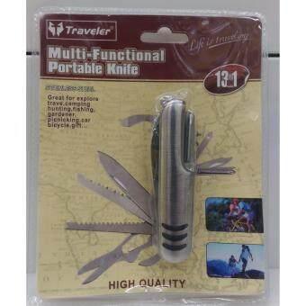 2561 9Front-Travelerอุปกรณ์เดินป่า เครื่องมืออเนกประสงค์ ุ13in1
