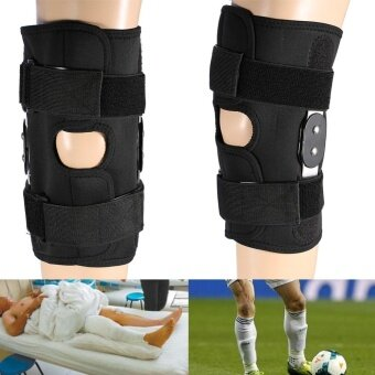Adjustable Knee Brace Pad Support Leg Protector Compression SleevesSafety Strap (L) - intl