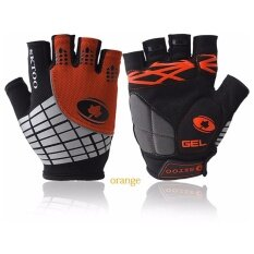 Adult Contrast Color Half Finger Gloves Non-slip Breathable Protective Gloves for Cycling Fishing Shooting Hiking Color:Orange Size:Orange - intl