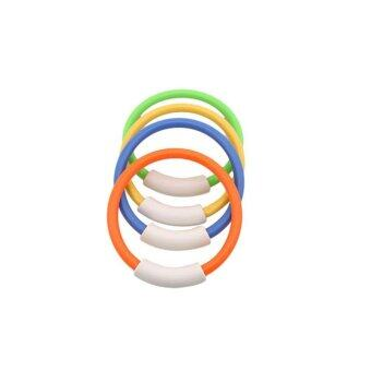 Ai Home 4Pcs Dive Rings Swimming Pool Diving Game ChildrenUnderwater Diving Ring (Multicolor) - intl