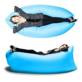 Air Sofa โซฟาลม fast inflatable lounger air sleep bag for outdoor'scamping (Blue)