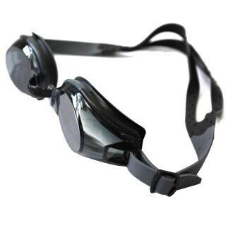 Amangoผู้ใหญ่ว่ายน้ำแว่นตาว่ายน้ำการป้องกันรังสียูวีปรับได้ป้องกันหมอกสีดำ