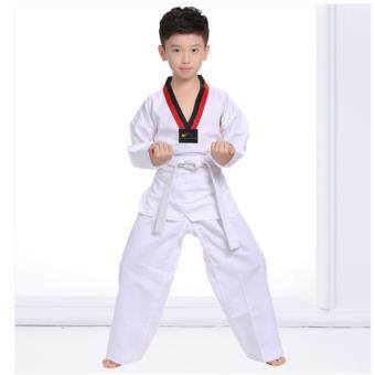 2561 ANGANG ชุดเทควันโด ผ้าอย่างดี ชุดฝึกซ้อมเทควันโด พร้อมสายขาว