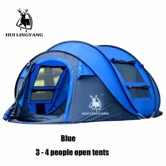 Antelope automatic tent new 3-4 people quick open camping camping outdoor supplies spot - intl