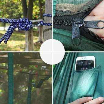 AoTu AT6730 2คนเปลญวน-สีเขียวสีดำ+Apple สีเขียว