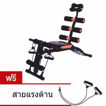 AVARIN เครื่องบริหารหน้าท้อง เก้าอี้ซิทอัพ ม้าเล่นหน้าท้อง Six Pack Care สปริง 6 เส้น (สีดำ/สีส้ม)