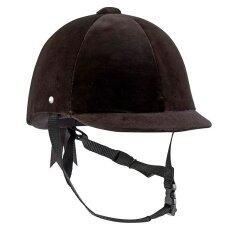 Beautyshop หมวกขี่ม้าผ้าเวอลัวรุ่น C400 ขนาด 52 ถึง 59 ซม. (สีดำ)
