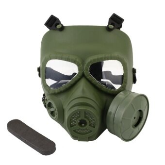 Bellamall M04 CS Airsoft Wargame Cosplay Helmet Gas Mask Goggles Antifog Equipment - intl